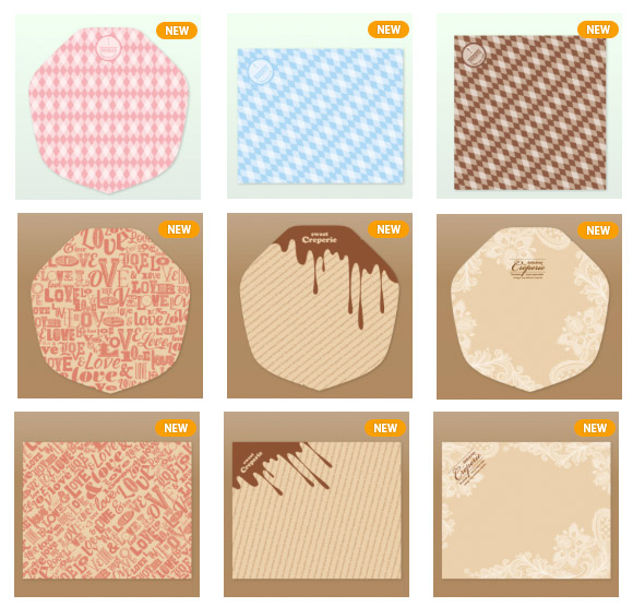ラミ加工クレープ包装紙一覧